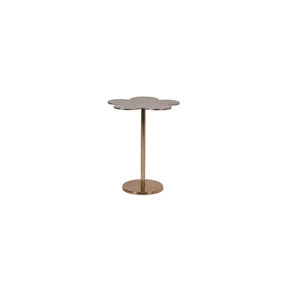 gold clover leaf side table